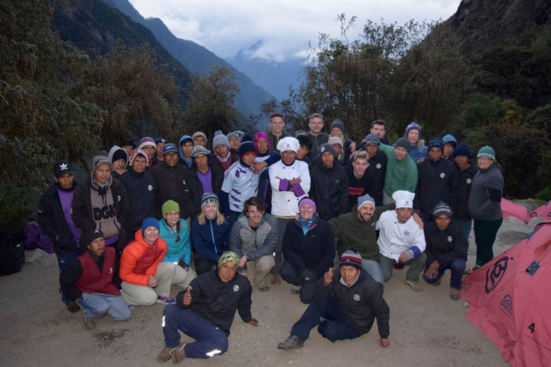 Hiking the Inca Trail: our group with the team of guides and porters that made the experience possible