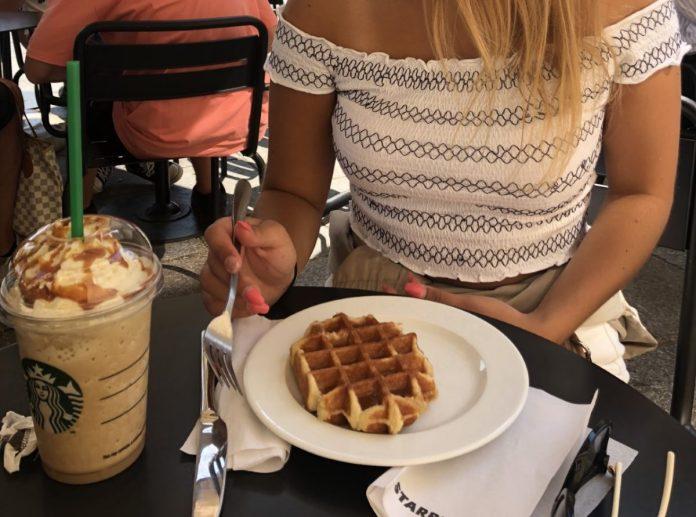 Girl at Starbucks