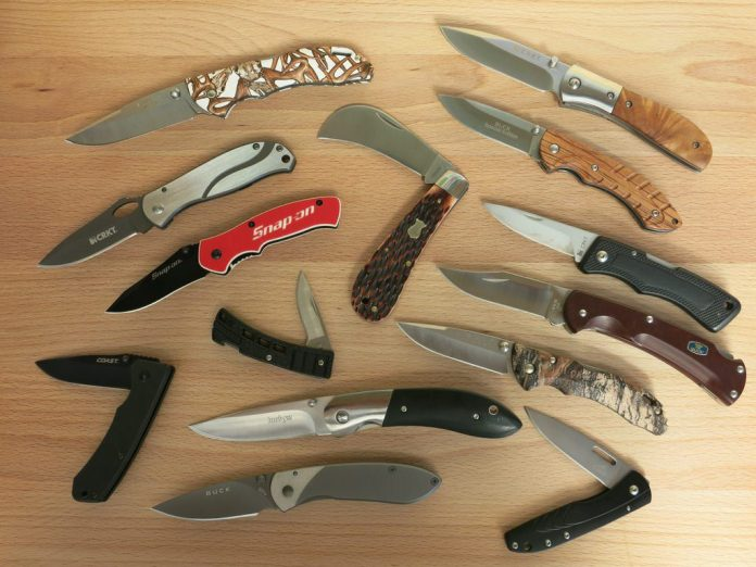 Collection of knives used as weapons