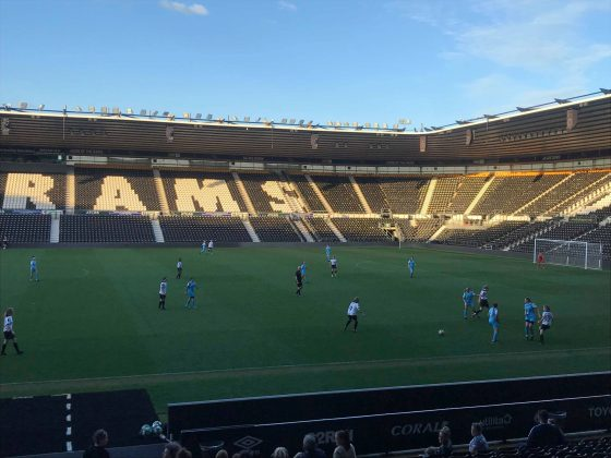 Derby County Ladies playing at Pride Park