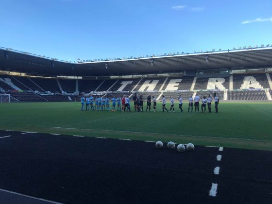 Derby County Ladies before kick off