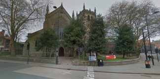 Pictured is St Werburgh's Church, in Derby