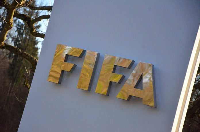 FIFA logo, picture by Ben Sutherland