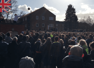 The moment when day two of Royal Shrovetide Football 2020 commenced. Photo by Darion Westwood.