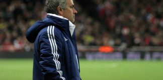 Jose Mourinho in the dugout