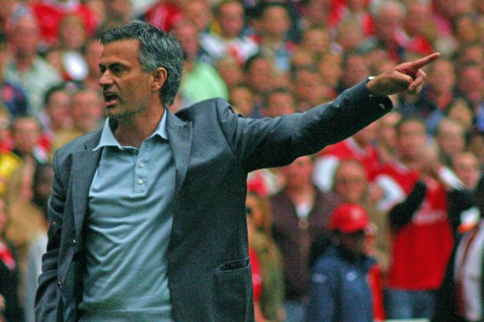Mourinho on the sidelines