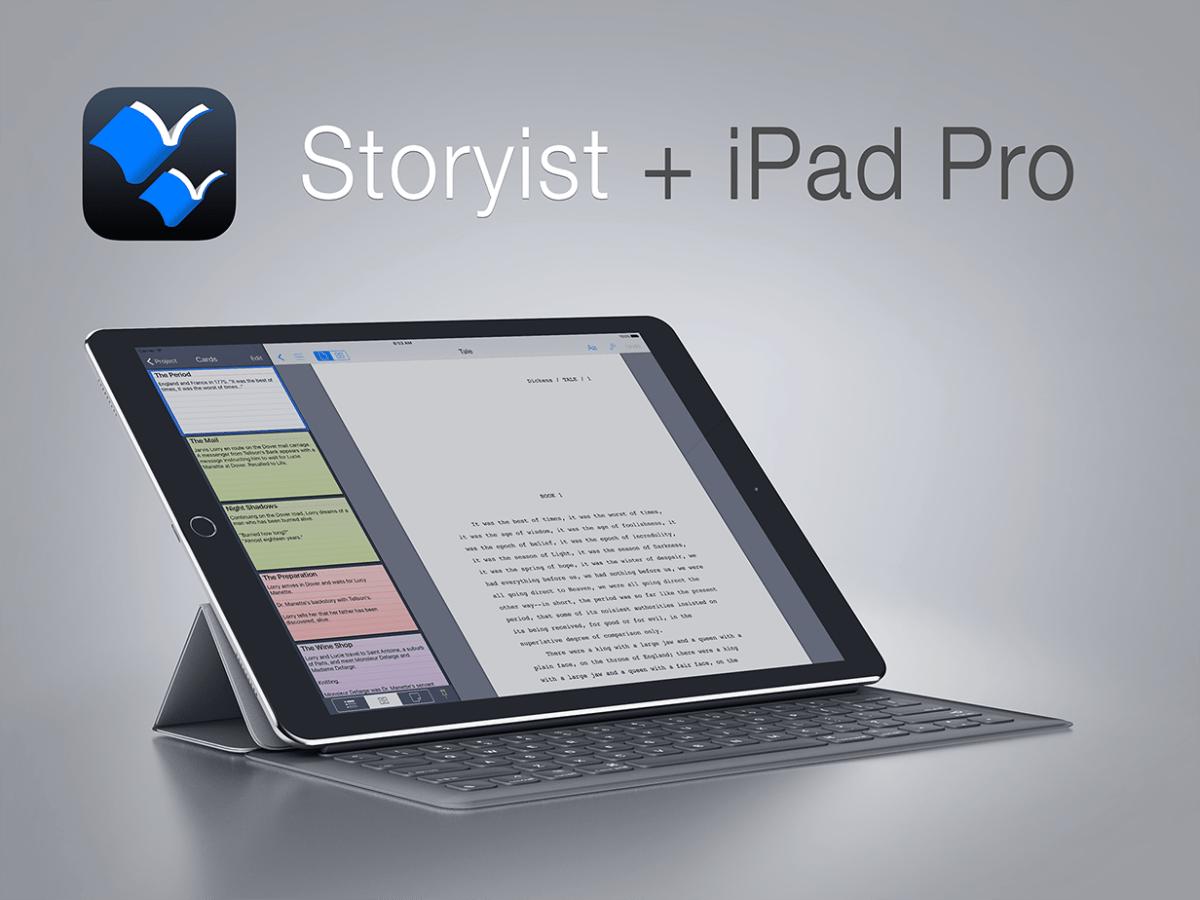 Storyist and iPad Pro