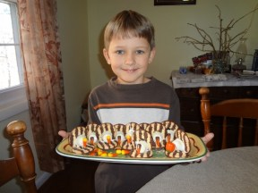 Middle Boy and his turkey cookies