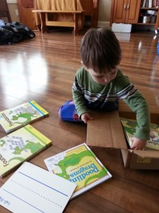 a box of curriculum just for Littlest
