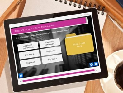designing e-learning storyline templates interactive drag drop