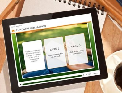 storyline flip cards interaction e-learning template