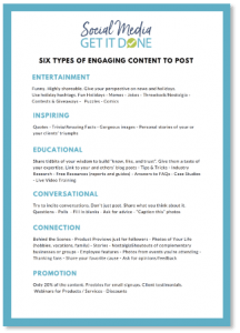 Social Media Types of Engagement