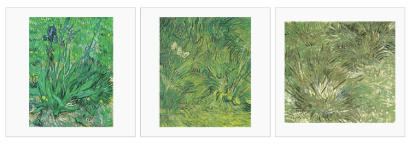 Art curators identify series of related Van Gogh paintings (via Wikipedia). These three are more similar than others he painted on the same subject.