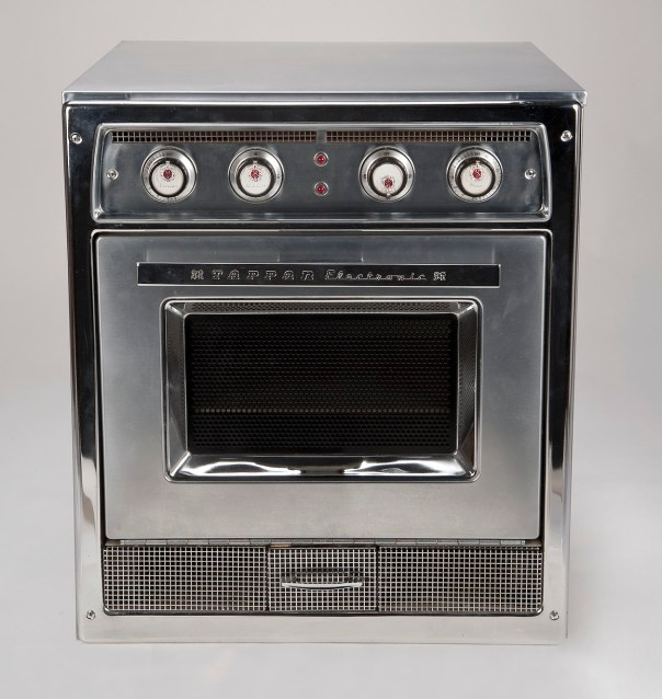 Early microwave with recipe drawer at the base