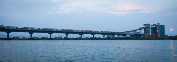 10 bridges cut across the Ennore Creek