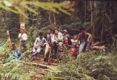 beristirahat di pos gunung Tambora