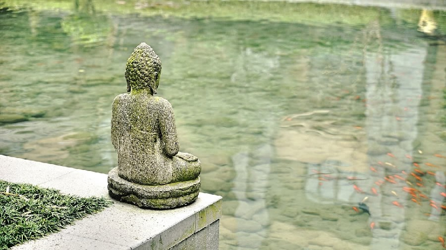 storytelling - buddha meditating or just a ststue?