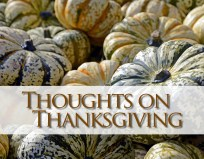 Thoughts on Thanksgiving