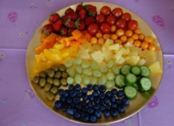 Rainbow fruit plate - Story Snug