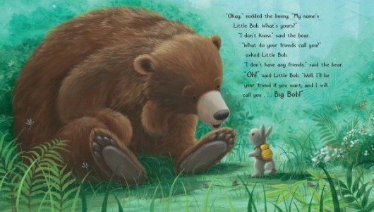 Scaredy Bear inside spread - Story Snug