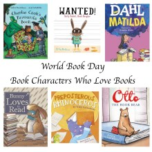 World Book Day - Book Characters Who Love Books - Story Snug