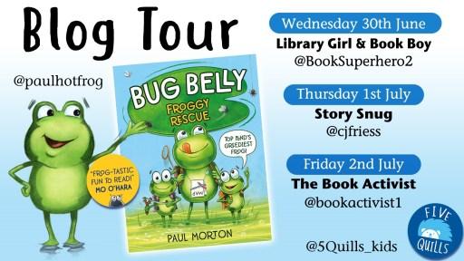 Bug Belly blog tour banner - Story Snug