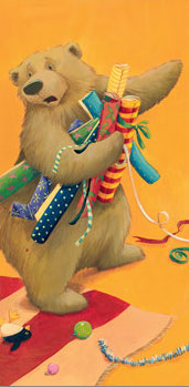 Is It Christmas Yet? Big Bear cutout  - Story Snug