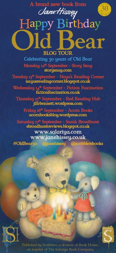 Jane Hissey's Old Bear blog tour banner - Story Snug
