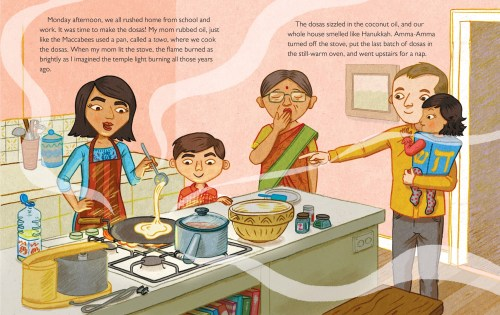 Queen of the Hanukkah Dosas illustration - Story Snug