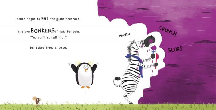 Bonkers About Beetroot - Zebra eating - Story Snug