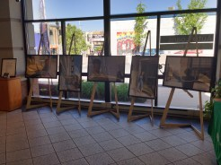 Stitchers Teen Council portrait photography exhibit. Commerce Bank, May 11 to June 11, 2015