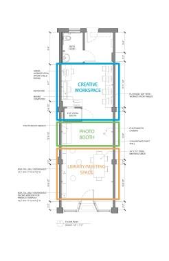Design by Somewhere Studio, Jessica Colangelo and Charles Sharpless for 616 N Skinker Stitchers Storefront Studio