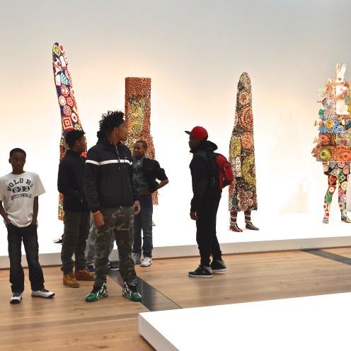 At the Nick Cave exhibition, Saint Louis Art Museum, Forest Park