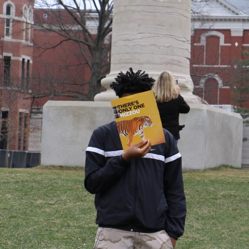 Teen Council member during Black & Gold Days visit at the University of Missouri, Columbia.