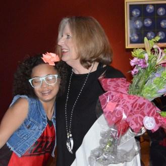 Susan Block with a Stitchers Teen