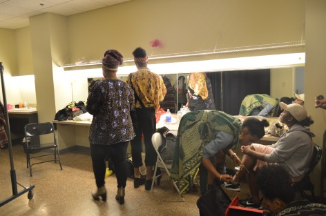 Breeayra and Friends in the dressing room before the Concert Photo by Jaquan. c Story Stitchers