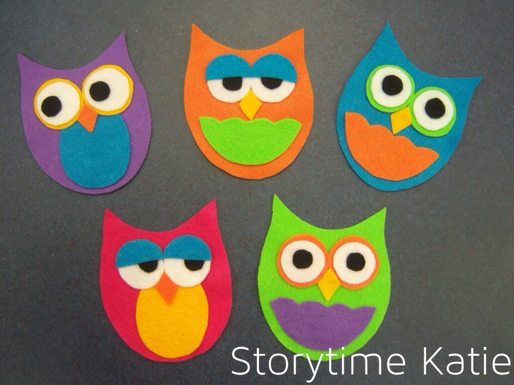 Flannel Friday Five Little Owls Storytime Katie