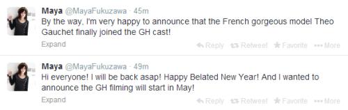 Maya Fukuzawa's tweets