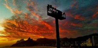 An amazing view in Rio de Janeiro - sunset over Ipanema from Arpoador