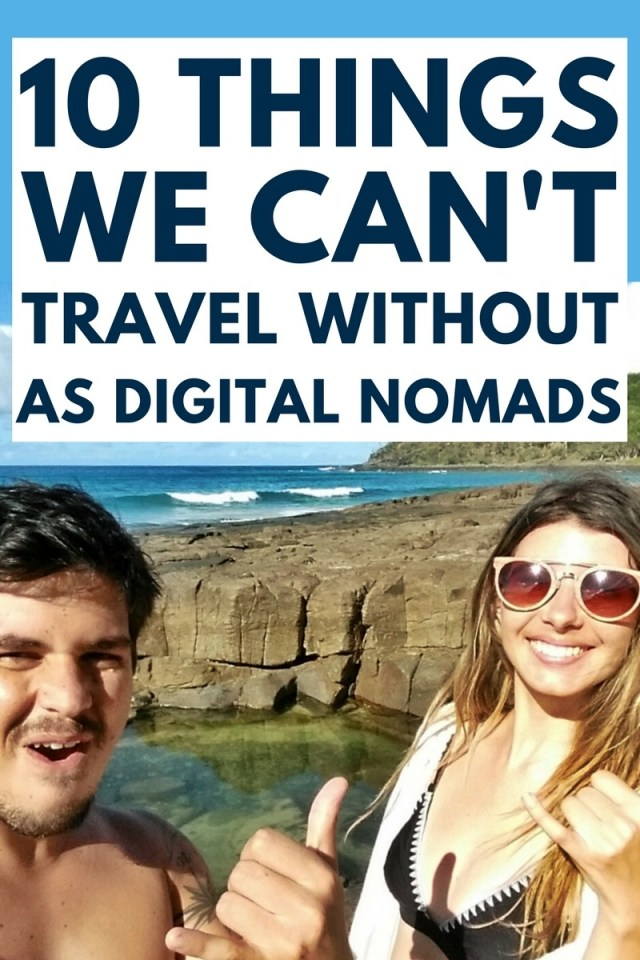 As digital nomads there are some important things we literally can't travel without. Learn which items help us to earn an income online & travel the world! Click through to find out...