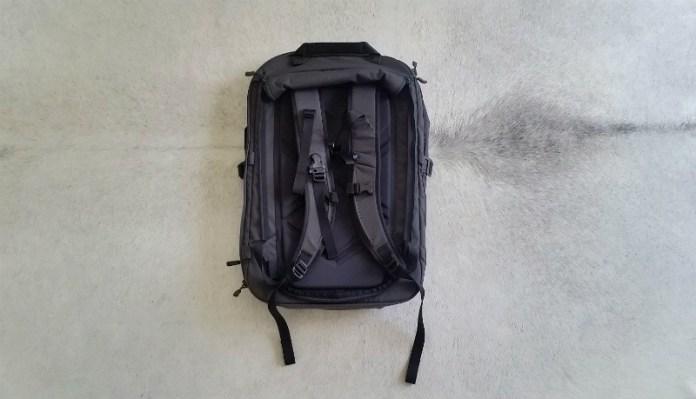 Best bag for digital nomads - Minaal Carry-on 2.0 bag review: back view