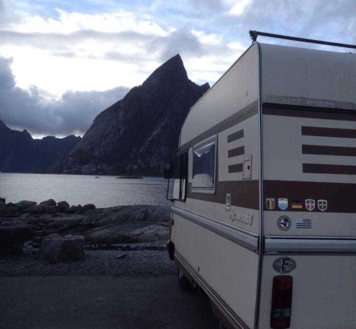 Norway road trip - campervan stop
