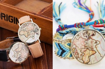 Voyager world map watch background storyv travel lifestyle world map watches are super hot as far as travel fashion accessories go right now gumiabroncs Gallery