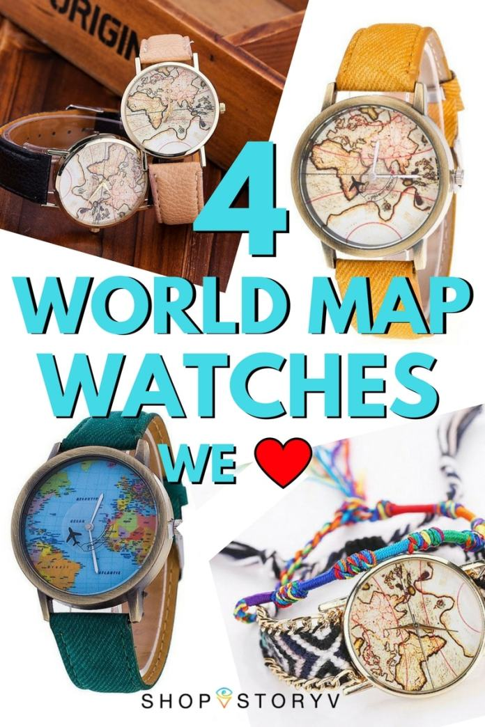 World map watches are super hot as far as travel fashion accessories go right now. Get your hands on these 4 amazing world map watches for under $30!