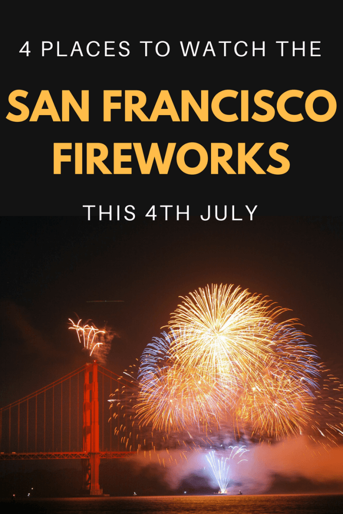 Catch the best glimpse of the fireworks in San Francisco this Independence Day with these 4 unique viewing points surrounding the bay...
