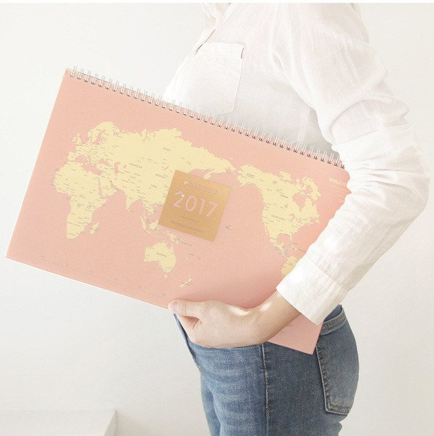 Getaway 2017 World Map Calendar - Summer Travel Gifts For Female Travelers