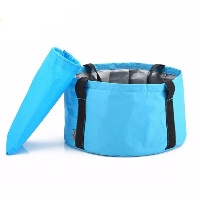 Happy Camper Portable Folding Wash Basin - Summer Travel Gifts For Female Travelers