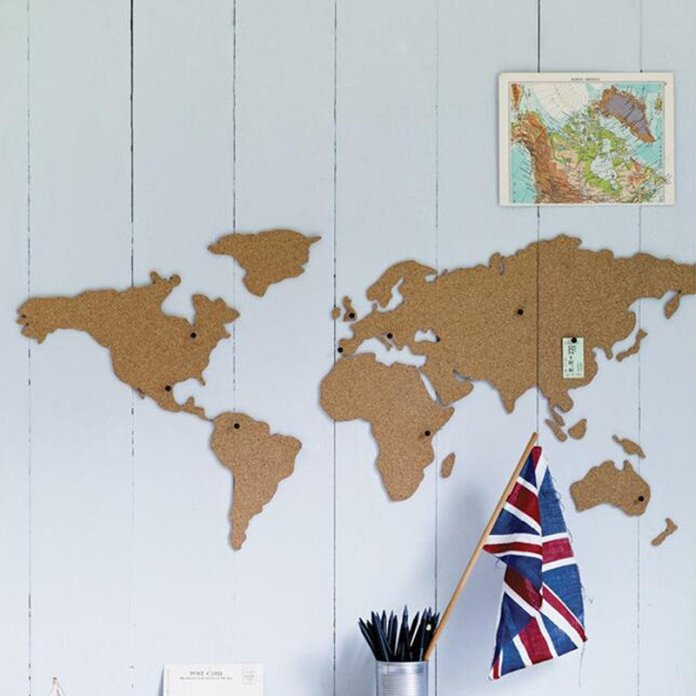 Where Ive Been Wandering World Map Cork Board - Summer Travel Gifts For Female Travelers