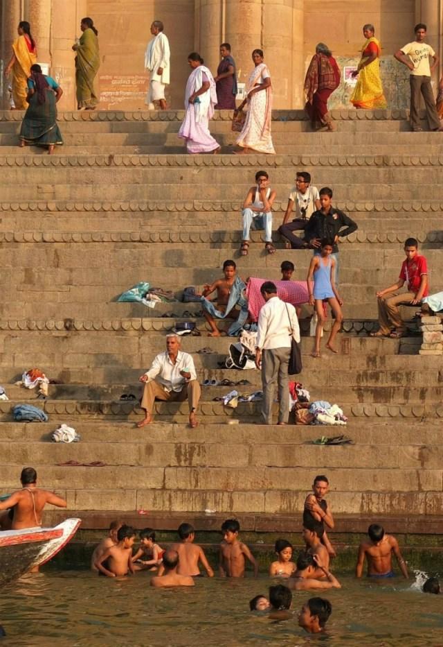 The ghats (steps) of Varanasi/Benaras