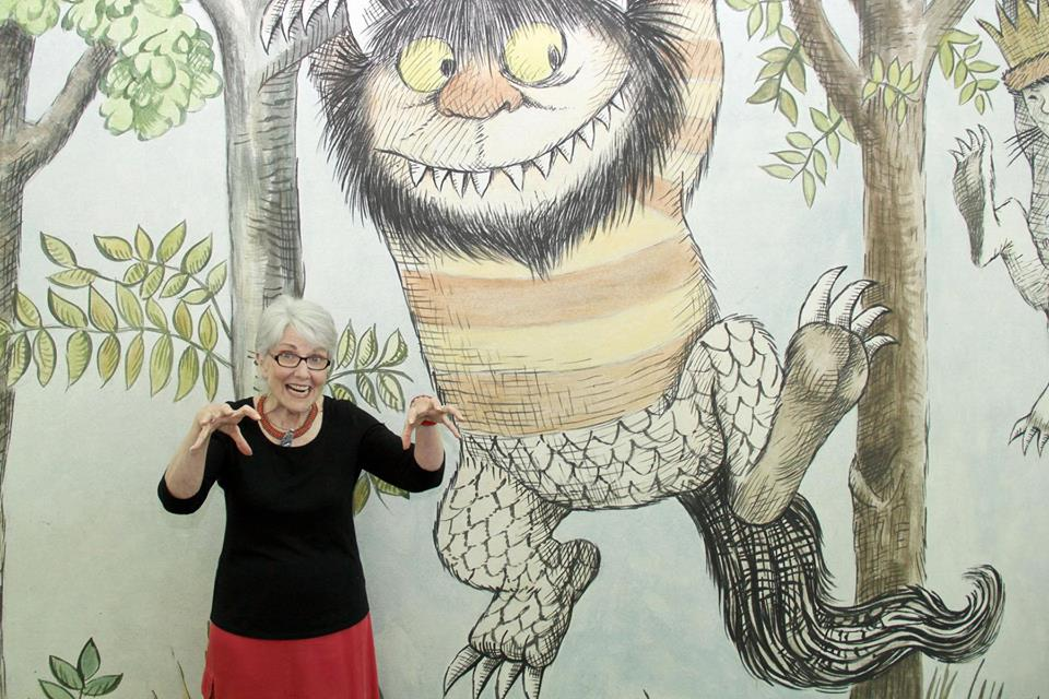 """Connie poses with a """"Wild Thing""""."""